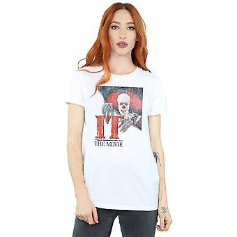 It (1990) Women's Distressed Poster Boyfriend Fit T-Shirt