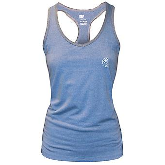 Bad Girl Racerback Fitness Tank Top - Blue Marl/Charcoal Marl