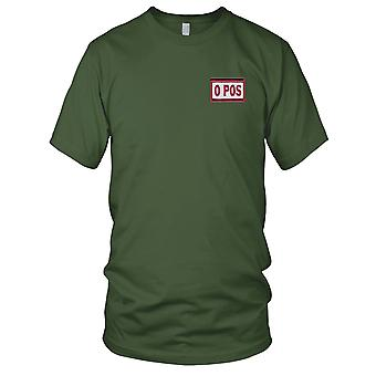 US Army - Blood Type O Positive Desert Version A Embroidered Patch - Hook And Loop Mens T Shirt
