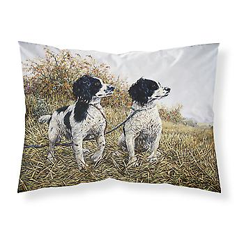 Two Springer Spaniels by Michael Herring Fabric Standard Pillowcase