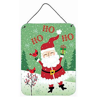 Merry Christmas Santa Claus Ho Ho Ho Wall or Door Hanging Prints