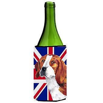 Beagle con inglese Union Jack bandiera britannica bottiglia di vino bevanda isolante Gianluca