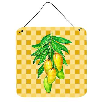 Mangos on Branch on Basketweave Wall or Door Hanging Prints
