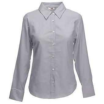 Frukt i vävstol damer dam-Fit lång ärm Oxford skjorta