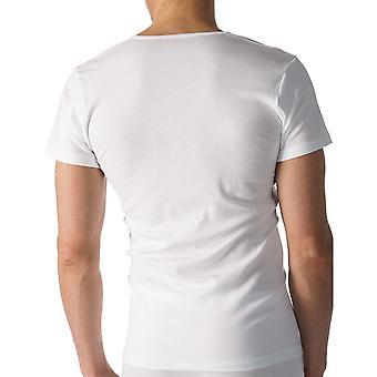 Mey 49007-101 Men's Casual Cotton White Solid Colour Short Sleeve Top