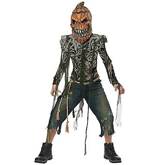 Pumpkin Creature Horror Monster Creepy Spooky Halloween Boys Costume