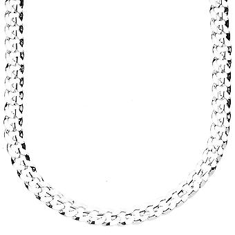 Iced Out Bling Hip Hop PANZERKETTE - CUBAN 6mm silber