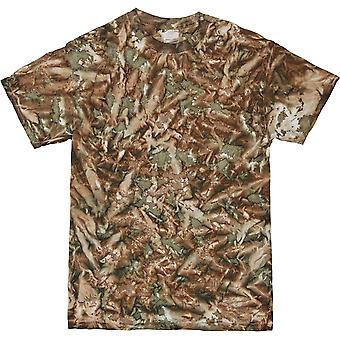 Colortone Ladies Hand Dyed Camo Pattern T Shirt
