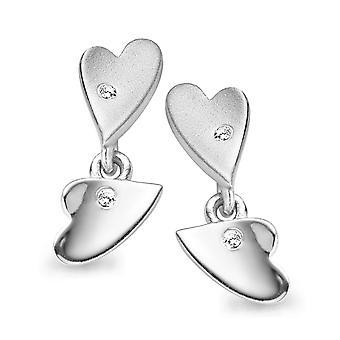 Orphelia Silver 925 Earring Heart Zirconium   ZO-5011