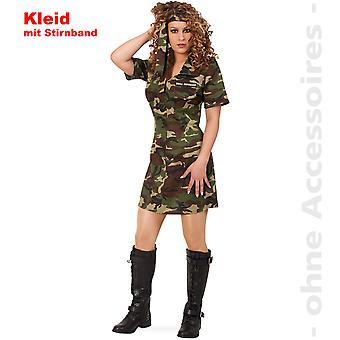 Soldat hær damer hær kjole damer kostume camouflage kostume