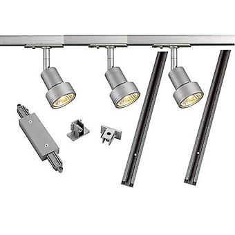 SLV 143194 Mounting rail set (complete) GU10 12.9 W LED (monochrome) Silver-grey