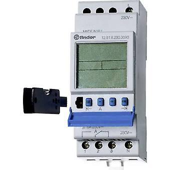Finder DIN rail mount timer Operating voltage: 230 V AC 12.91.8.230.0090 order 1 change-over 16 A 250 V AC Weekday settings