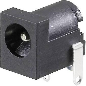 Conrad Components Low power connector Socket, horizontal mount 6.3 mm 2.5 mm 1 pc(s)