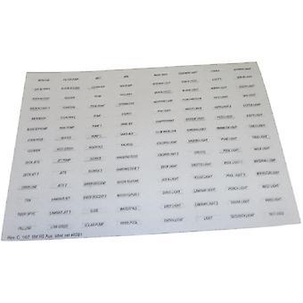 Zodiaque Jandy 6781 auxiliaire Label Set Rev C 1/07 5M RS