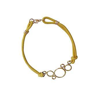 Cirkler armbånd gule bronze Guld belagte armringe