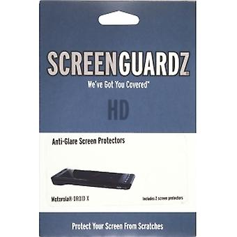 BodyGuardz ScreenGuardz HD-näytön suoja, jossa on heijastamaton Motorola Droid X MB810/Milestone X MB809 (2 kpl)