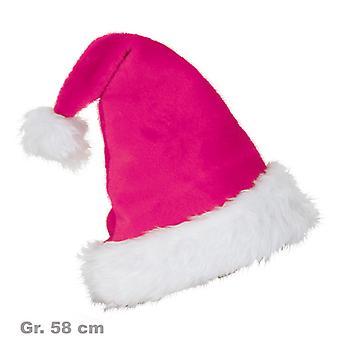 סנטה כובע ורוד מפוארים כובע חג המולד