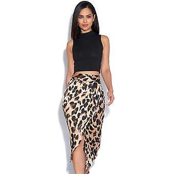 Leopard Wrapover Skirt