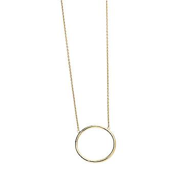 Elementen gouden Open Circle ketting - goud