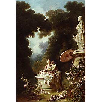 رسائل الحب، جان أونور فراغونار، 60x40cm