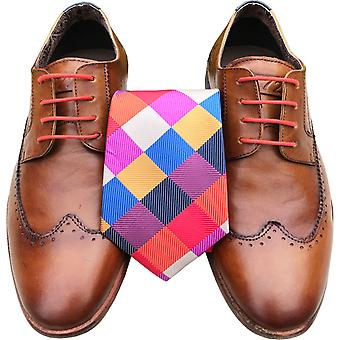 Multi Coloured Tie & Lace Set Laces