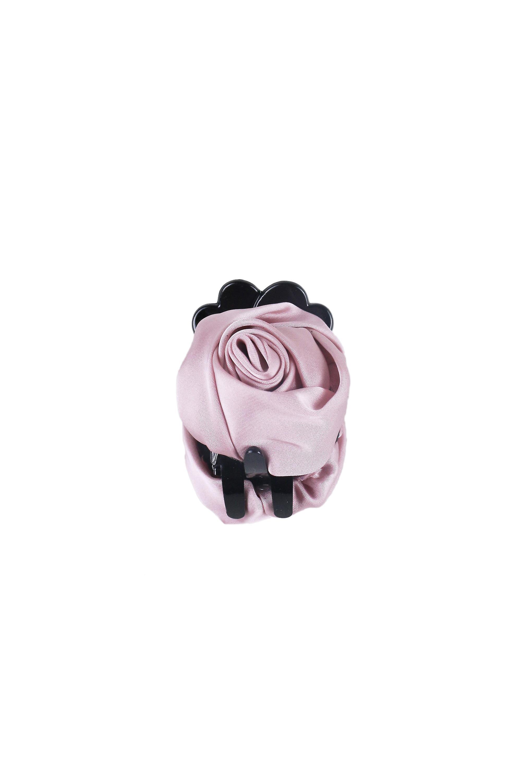 Lovemystyle Dusky Pink Silk Rose Clasp Hair Slide