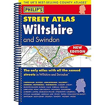 Philipps Straße Atlas Wiltshire und Swindon: Spirale Edition (Philipps Straße Atlanten)