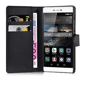 Cadorabo case for Huawei P8 case case cover - phone case with magnetic clasp, stand function and card compartment – Case Cover Protective Case Case Book Folding Style