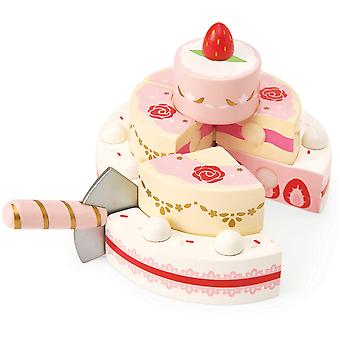 Le Toy Van Honeybake Play Strawberry Wedding Cake