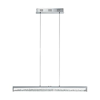 Eglo - Cardito 1 LED 6 toucher léger exploité barre de Chrome poli pendentif avec EG93626 de cristaux de verre