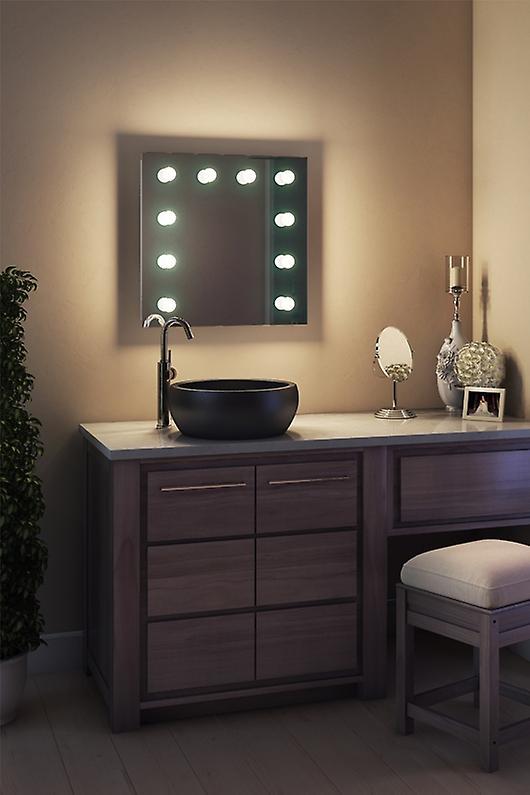 Diamond X Wallmount Hollywood Audio Mirror, Dimmable LED k89WWaudbath