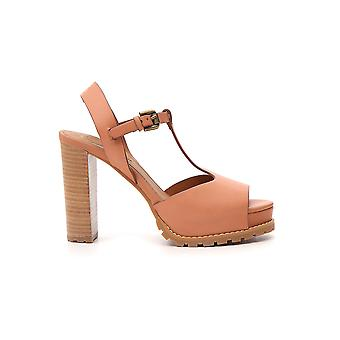 See By Chloé Sb32140a09010 Women's Nude Leather Sandals