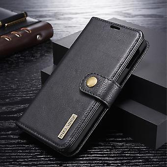 Dg. MING Samsung Galaxy S10e Split leather wallet Case-Black