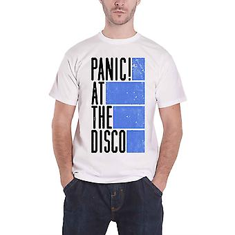 Panic At The Disco Mens T Shirt White Bars band logo Official