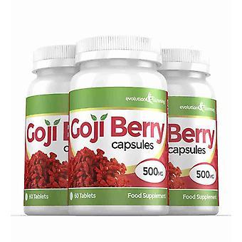 Goji Berry Extrakt 5.000mg hochfeste Kapseln - 180 Kapseln - Antioxidans - Evolution Abnehmen