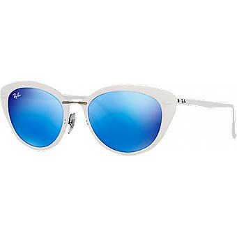 Ray - Ban RB4250 luz Ray blanco brillante azul espejado