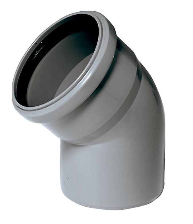 Soil Pipe 30 Degree Bend 110 mm Inlet - Push Fit - Grey - Waste