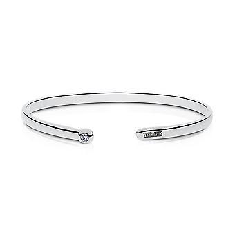 University Of Maryland Engraved Sterling Silver Diamond Cuff Bracelet