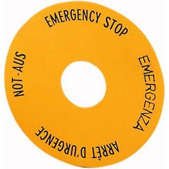 Eaton SRT1 Etichetta rotonda (x H) 60 mm x 60 mm EMERGENCY STOP (de, en, fr, it) Giallo 1 pc(i)