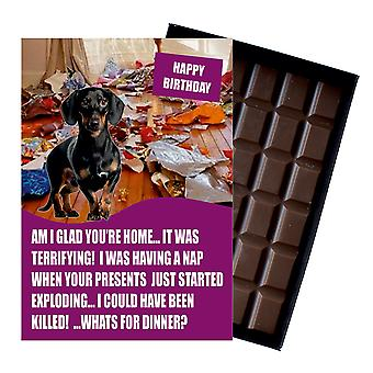 Dachshund Funny Birthday Gifts For Dog Lover Boxed Chocolate Greeting Card Present