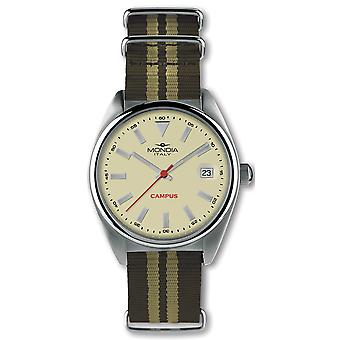 Mondia campus Japanese Automatic Analog Man Watch with Nylon Mi728-2CT Bracelet