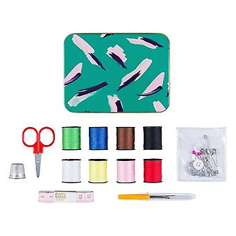 Pretty hyödyllisiä työkaluja Ompele & korjaus Kit (Jungle Strokes Green)