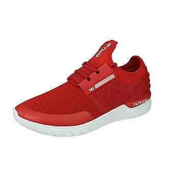 Supra Flow Run EVO Mens Casual Trainers / Shoes - Red