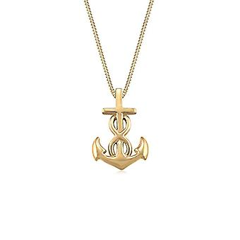 Elli Necklace with Women's Pendant in Silver - Yellow Gold Plate - 45 cm