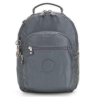 Kipling Basic Plus - Sac à dos scolaire - 35 cm - Steel Gr Metal (Gris) - KI3789H55