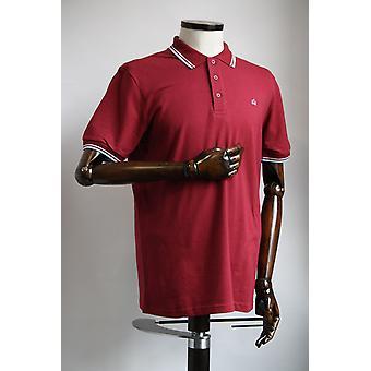 Merc London Card Claret Red Cotton Polo Shirt