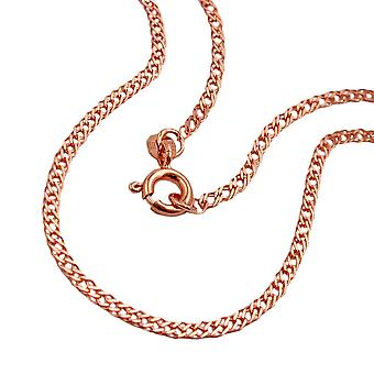 Chain 45 cm double tank 2 mm 14Kt rose gold