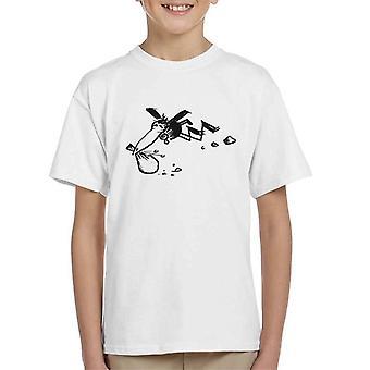 Krazy Kat Joe Stork Sack Flying Kid's T-Shirt
