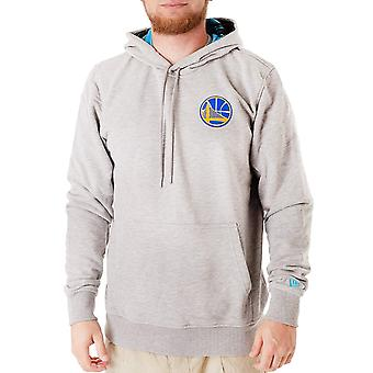 New Era Hombres GS Guerreros Coastal Logo Pullover Jumper sudadera con capucha - gris