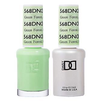Dnd Duo Gel & Nail Polish Set - Green Forest AK 568 - 2x15ml